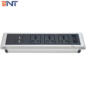 China double usb charger interface desktop mount socket with hidden screw design TMS103 on sale