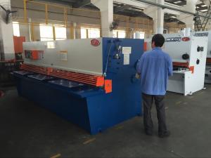 China Swing Beam Sheet Metal Shearing Machine CNC System 6 Mm Cutting Thickness on sale