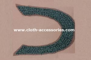 China SGS approved Big U Shape Bead Trim / 46g Midi Dress Garment Trimmings on sale