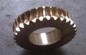 China CNC turning , Gear hobbing services Mechanical Precisio Brass Gear Worm Wheel on sale