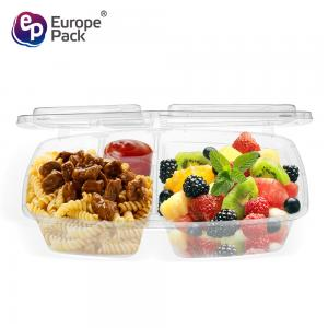 China PP packaging box plastic box take-out food box 2 compartments on sale