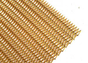 China Spiral Fabric Decorative Wire Mesh In Antioxidant Brass For Shade Screens on sale