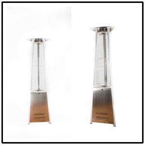 China Waterproof Restaurants Triangle Patio Heater Hinged Door Design 2300mm Height on sale