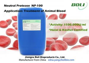 China Non - GMO Bacillus Subtilis Protease For Treatment Animal Blood , Cysteine / Microbial Proteases on sale