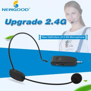 China Os auriculares Handheld 2 em 1 megafone sem fio Mic dos auriculares do discurso do microfone 2.4G para o altifalante ensinam o guia turística da reunião on sale