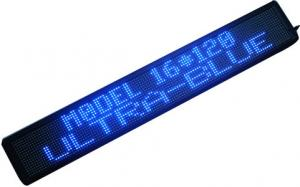 China Indoor P10/P12/P16/P20/P25 Control Blue Scrolling LED Sign With High Definition on sale