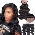 8''Yetta 100 Indian Human Hair Weave 13 X 6 Lace Frontal For Lady
