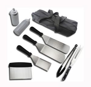 China 9PCS  Griddle Accessories Set Include Stainless Steel Griddle Spatula Set on sale