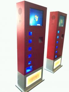 China 17inch Cell Phone Charging Kiosk vending machine Led light charging on sale