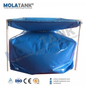 China Molatank Self-supporting PVC portable Water collection System for drinking water, irrigation, feeding animal etc on sale