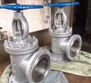 China CL150 RF CS/SS A216 WCB A351 CF8M/SS316 Flanged Angle Type Globe Valve / Throttling Valve on sale