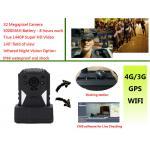China Live Monitoring 3g Wifi Gps Police Body Cameras , Body Worn Camera 1440p Resolution wholesale