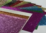Eco Friendly Craft A4 Size Pu Glitter Fabric Sheet Metallic Glitter Fabric