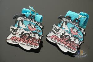 China Great Cow Runsports Award Medals Soft Enamel And Glitter Colors With Ribbon on sale