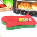 ECO - Mitones del horno de la cocina/guante modificados para requisitos particulares amistosos de la hornada con bordado del logotipo