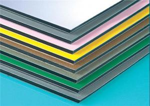 China Anodized Composite Wall Panels , Aluminium Composite Sheet Easy Maintain on sale