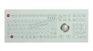 China Customs 108 Keys Medical Grade Keyboard With 38mm Laser Trackball 1200dpi on sale