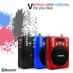 orador portátil elegante novo do registrador de 2018 Bluetooth com o vermelho de rádio do preto azul de FM disponível