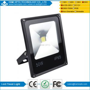 China New Slim 50W LED Flood Light Cool/Warm White Outdoor Spotlight Black AC85-265V on sale