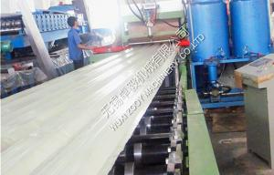 China Customized PU Sandwich Panel Roll Forming Machine Hydraulic Cutting on sale