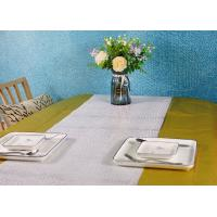 China Metallic Color Wood Pulp Disposable Paper Tablecloth Biodegradable Embossed Type on sale