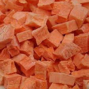 China China Native health Dehydrated Freeze Dried Carrot Dice for Cooking Recipe on sale
