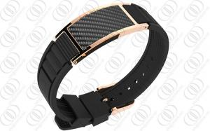 China PVD IP Rose Gold Carbon Fiber Bio Ionized Magnetic Jewelry for Health on sale