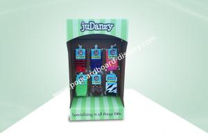 China Sock Cardboard Power Wing Display Lightweight Eco-friendly With Hooks For Hanging Socks With UV Coating on sale
