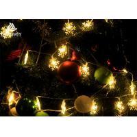 6M Snowflake Solar Powered Outdoor Xmas Tree Lights, Multi Colored Led Christmas Lights