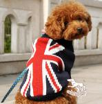 dog sweater with US flag style