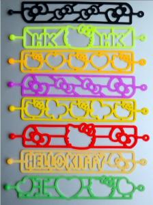 China High Flexible Glow Silly Silicone Rubber Elastic Band For Girls / Boys Eco-friendly on sale