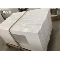 Prefab Natural Quartz Stone Countertops Solid White Quartz Bathroom Vanity Tops