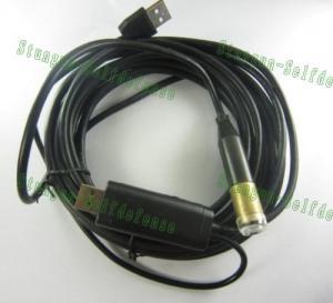 Quality câmera impermeável da inspeção da serpente do fio de 5M USB com 4 o diodo emissor de luz E-03 for sale