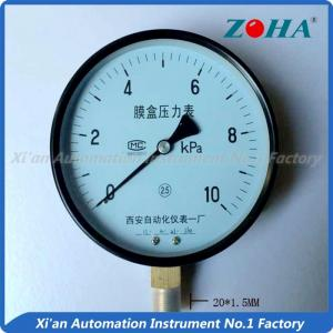 China High Accuracy Capsule Pressure Gauge With Black Steel Case 150mm Diameter on sale