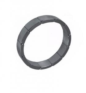 China Arc Shaped Ceramic Ferrite Magnets For Ceiling Fan Brushless DC Motor on sale