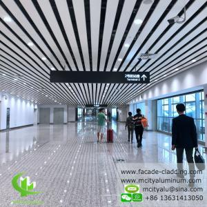 China Aluminum ceiling tile strip ceiling for interior and exterior powder coated white fireproof on sale
