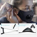 High Filtration N95 Face Mask No Ear Pressure Lightweight  Filter Harmful Gases