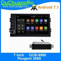 Ouchuangbo auto dvd stereo android 7.1 for Peugeot 308S with gps navigation 3g wifi Bluetooth Phone