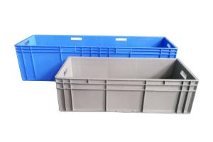 China Long Large Straight Wall Euro Stacking Containers Storage Box Car Used 1200*400*280mm on sale