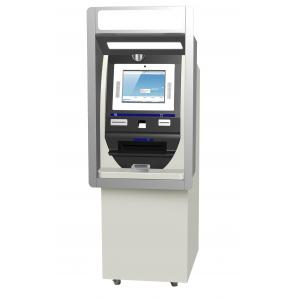 China Self Service Barcode Scanner Touch Screen Information Kiosk For Bank Airport Station on sale