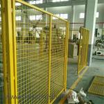 Yellow Color Welded Workshop Metal Fence / Warehouse Isolation Fence