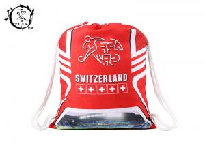 China Customized Switzerland Soccer Team Cinch Gym Bag Decoration Training With Logo on sale