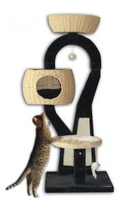 China Factory Cat Tree Scratcher Play Wood Cat Tree Tower House on sale