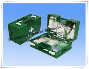 China Heavy Duty ABS First Aid Dressing Medical Emergency Kits Military Green With Wall Fixing Bracket on sale