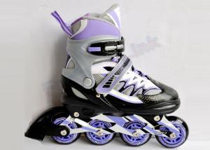 China Anti-Wrinkle Mesh Junior Adjustable Inline Hockey Skates / Roller Hockey Skating Shoes on sale