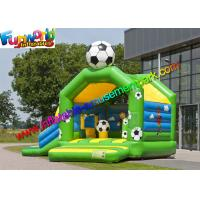 FIFA World Cup Inflatable Kids Bouncer Slide , Jumping Castle for Football Fan