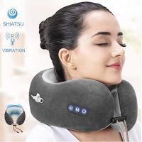 Portable U Shaped Travel Pillow Kneading Vibration For Airplane Traveler