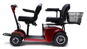 China Two seats Electric Mobility Travel Scooter For Elder , Handicapped Folding Electric scooter on sale