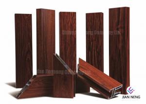 China Wood Finish Aluminium Frame Profile , Customized Aluminum Extrusion Profiles on sale