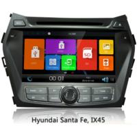 2 Din Car Gps Navigation System For Hyundai Ix45 / New Santa Fe , Car Audio Dvd Player